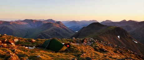 Camping on Buchaille Etive Mor