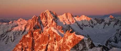 Sunset panorama, Chamonix