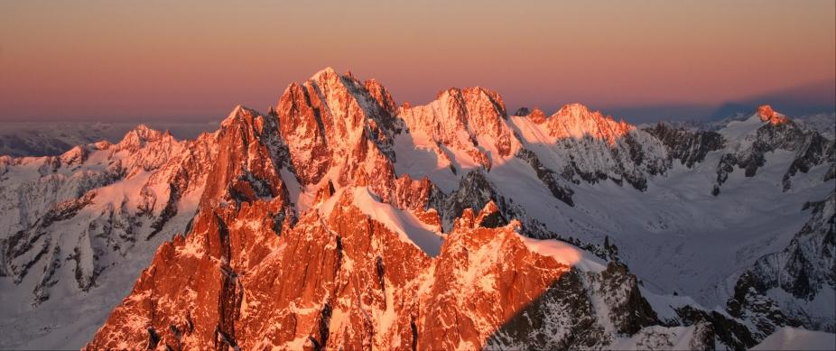 Sunset panorama, Chamonix
