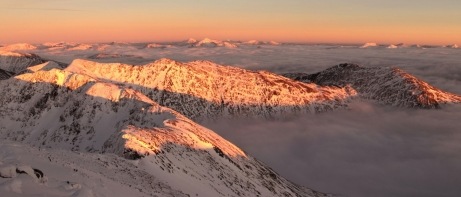 Sunset, east from Ben Cruachan