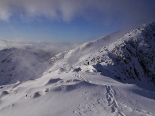 Winter sunshine, Cruachan horseshoe
