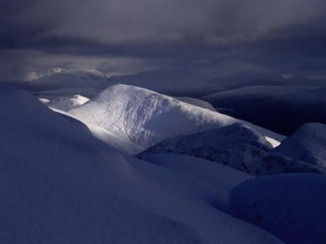 Deep snow, Ben Cruachan