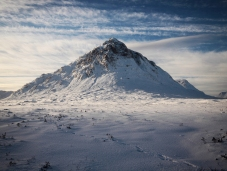 Buchaille Etive Mor, winter sunshine