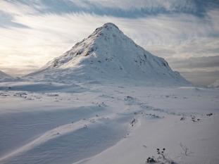 Buchaille Etive Beag, winter sunshine