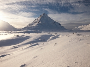Buchaille Etive Beag, winter sunshine