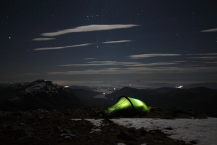 Camping on Ben Fhionnlaidh