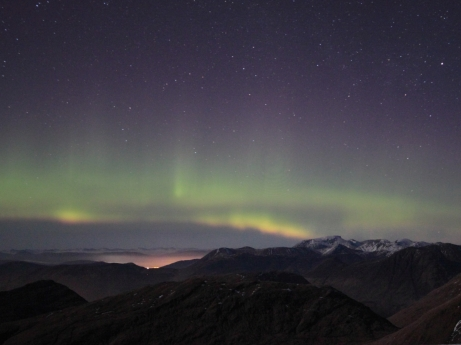 Aurora over Ben Nevis