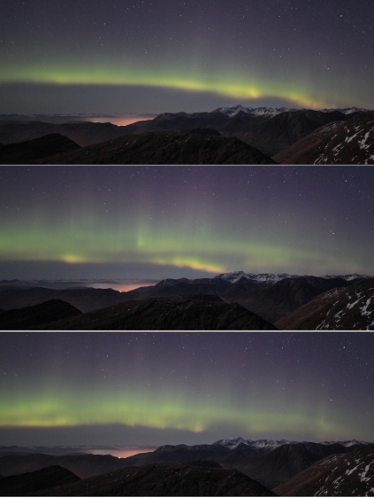 Aurora sequence over Ben Nevis