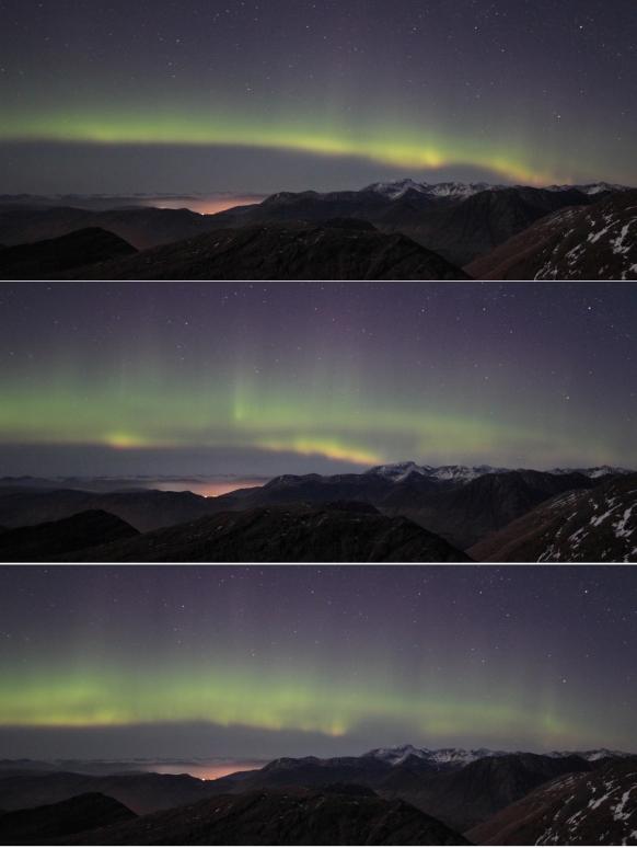 Aurora sequence over Ben Nevis