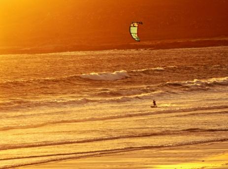 Kitesurfer at Balephuil, Tiree