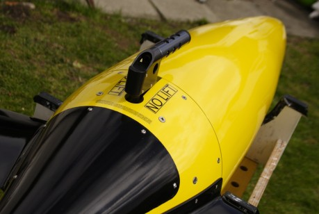 The finished seaglider model - detail showing tail section and CTD sensor