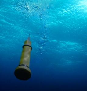 A descending Argo float. (c) S. Jones, BODC