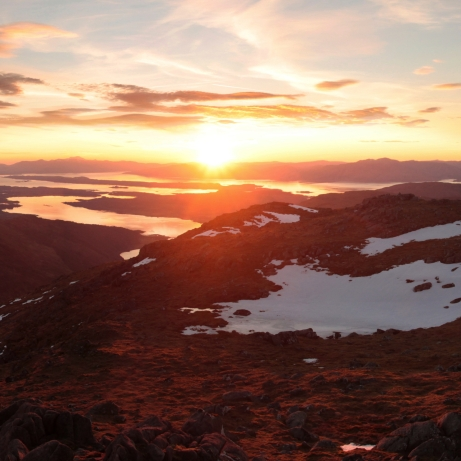 Sunset from Ben Sgulaird