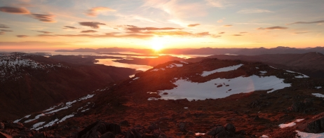 Sunset from Ben Sgulaird