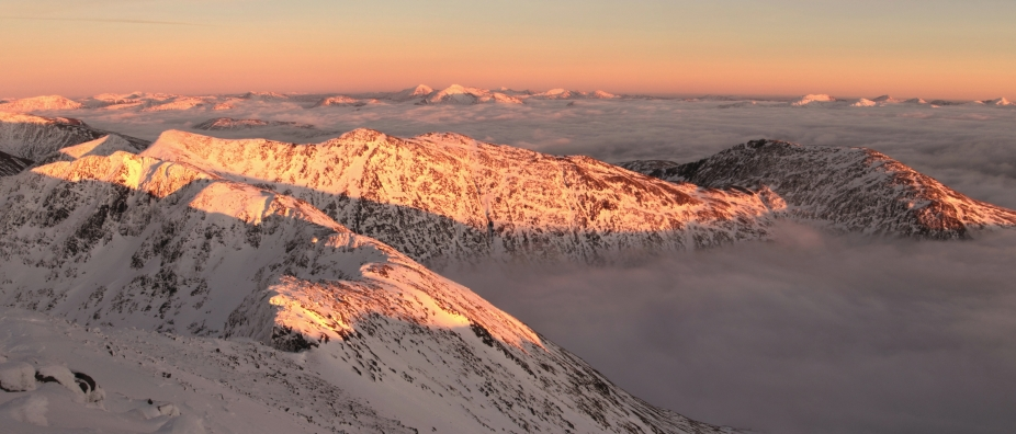 Sunset from Ben Cruachan