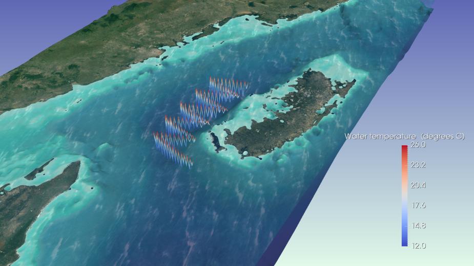 Simulated glider track designed by J. Wihsgott